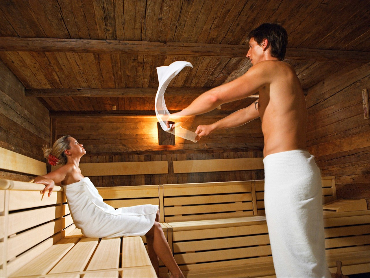 A variety of saunas